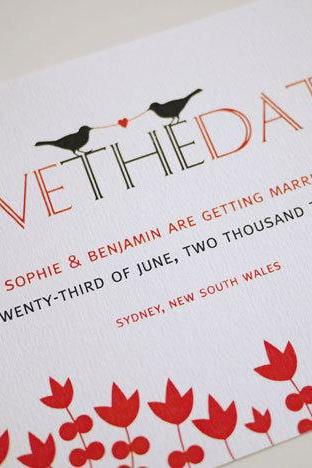 Two Birds Tied Together By Love - Save the Date (PRINTABLE)