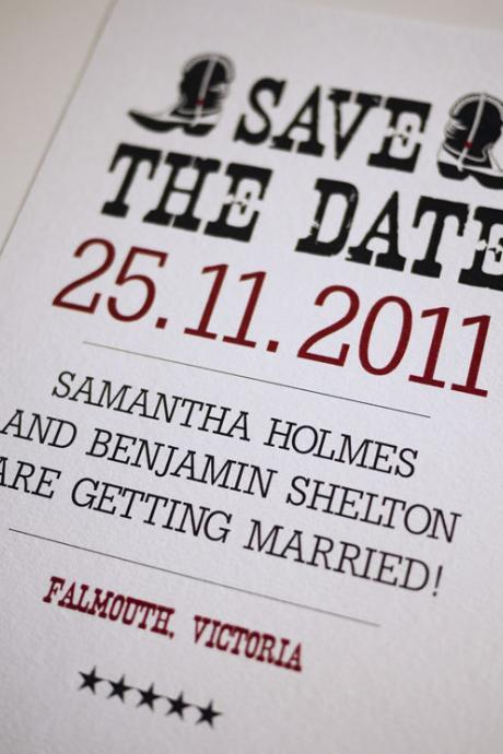 Western Theme Wedding - Save the Date (PRINTABLE)