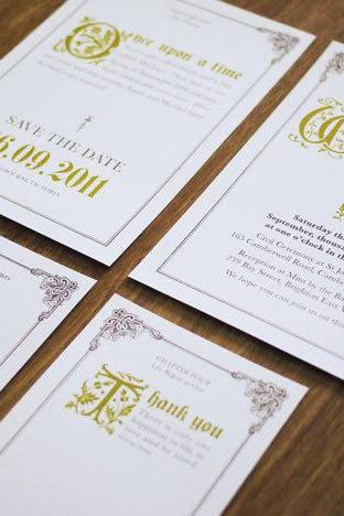 Fairy Tale - Once Upon a Time - Wedding Invitation Suite