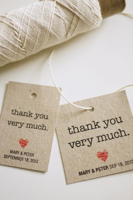 Personalized Favor Tags (PRINTABLE): Thank You Very Much