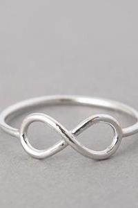 Infinity Ring White Gold - US 6, 6.5, .7.5