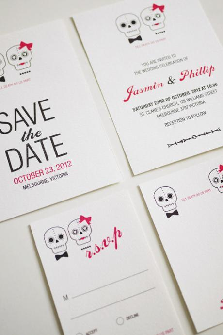 Till Death Do Us Part - Wedding Invitation Set (PRINTABLE) - Set of 4