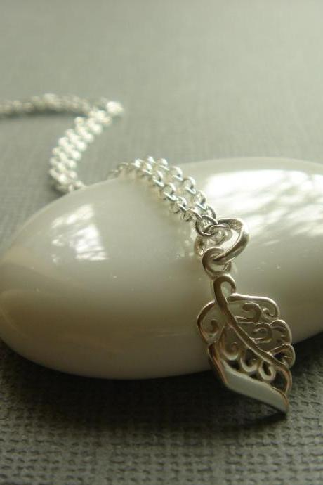 Nature's Leaf Sterling Silver Necklace