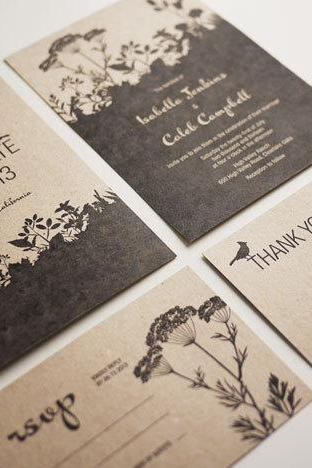 Nature - Wedding Invitation Set (PRINTABLE) - Set of 4