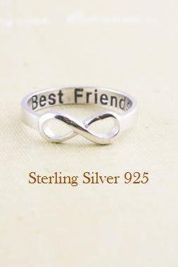 Best Friends infinity ring in sterling silver 925
