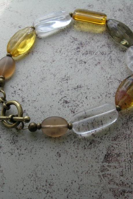 Honey mix glass bracelet
