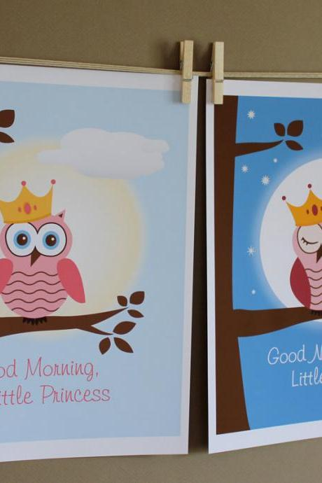 Good Night and Good Morning Little Princess, Two 8x10 Prints