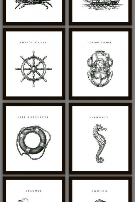8 Nautical Home Decoration Art Prints