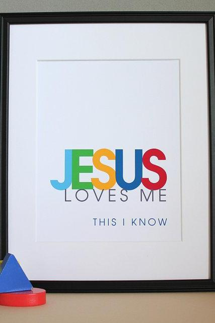 Jesus Loves Me, 8x10