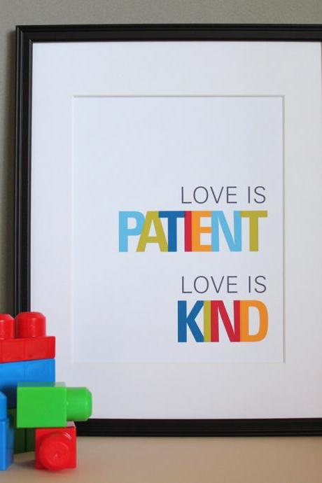 Love is Patient, Love is Kind, 8x10