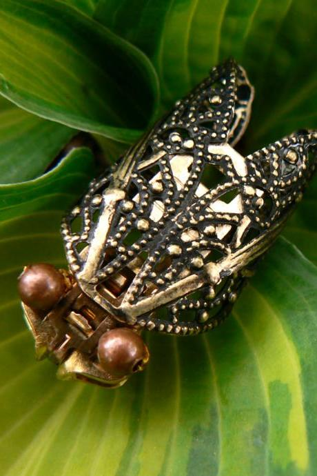 Steampunk Brooch - Zipper Brooch - Cicada Brooch