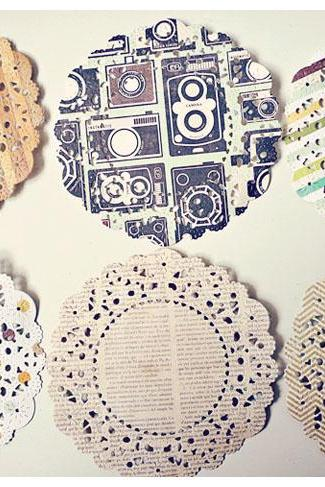 Parisian Lace Doily This & That for Scrap booking or card making / pack