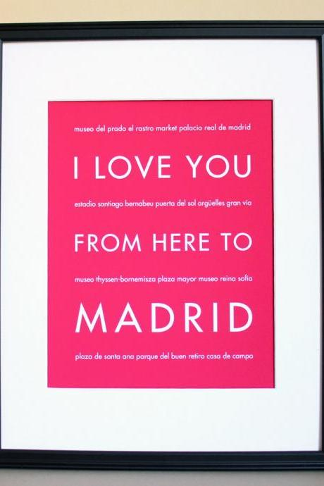 Madrid Art Print, 8x10