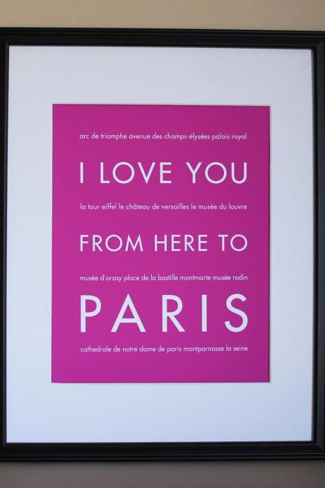 Paris Art Print, 8x10