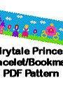 Fairy Tale Princess Peyote or Brick Stitch Cuff Bracelet or Bookmark Digital PDF Pattern DIY