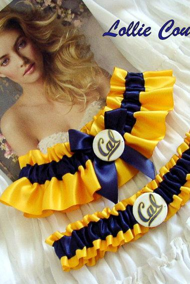 College wedding garters, football wedding garters, wedding accessories