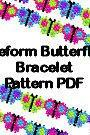 Beaded Butterfly Freeform Free Form Bracelet PDF Pattern Peyote Brick