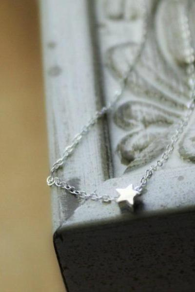 Sterling Silver Tiny Star Necklace