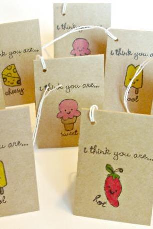 I think you are Blank personality trait mini-card tags Handmade mini cards Any occasion Set of 8