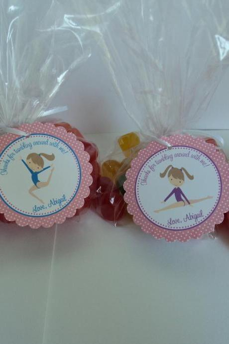 Gymnastics Party Favor Bags