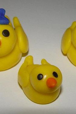 Fondant Duck Family Cake Toppers- FALL SALE Save up to 35% off your order (see shop front for details)
