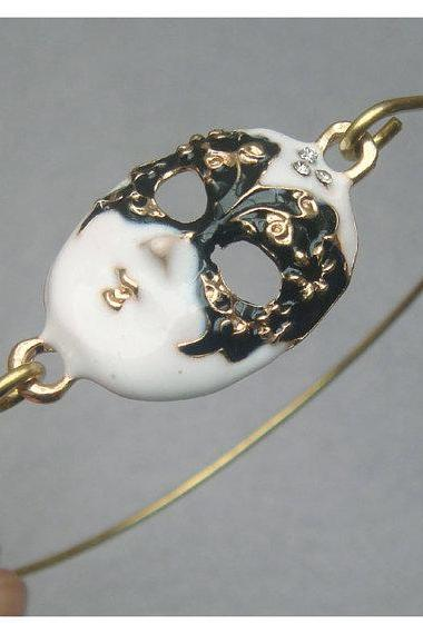 Lovely Mask Bangle Bracelet