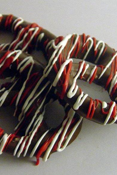 One Dozen Chocolate (And Caramel) Covered Pretzels