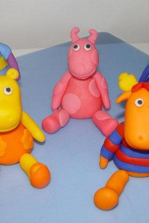 Fondant 'BACKYARDIGANS Inspired' Cake Toppers