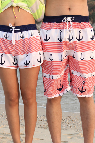 Anchor Lovers Beach Shorts For Men