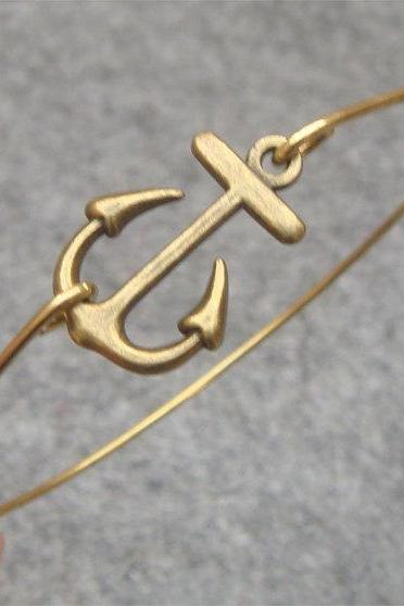 Anchor Bangle Bracelet Style 7