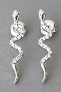 Sterling Silver Snake Earrings from Kellinsilver.com