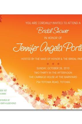 Fall Bride Shower Invitations