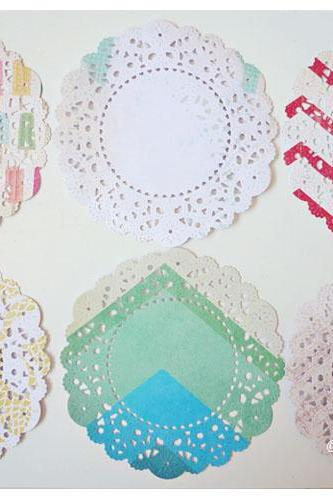 Parisian Lace Doily The Pier 3 for Scrap booking or card making / pack