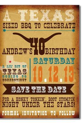 WesternThemed Custom Save the Date