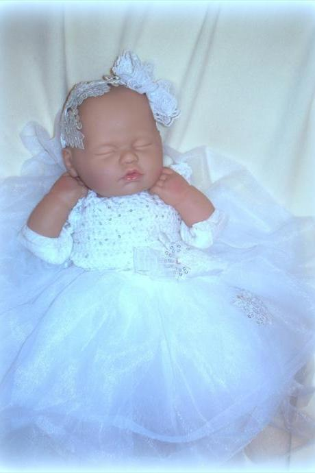 Christening Dress and Headband