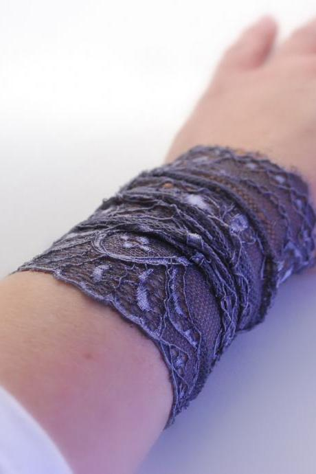 Trendy GRAY Green Lace Wrist Cuff Fashion accessory Women Teens MANY COLORS
