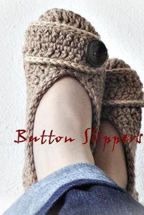 Buy Button Crochet Slippers