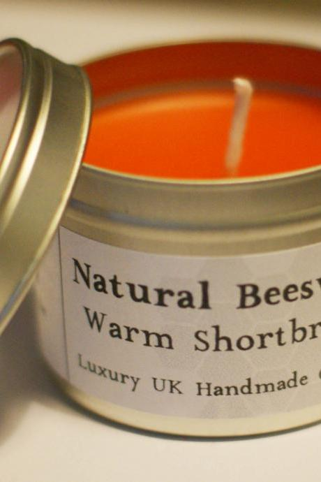 Natural Beeswax Candle - Warm Shortbread Scent