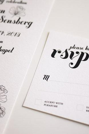 Elegant Black and White Wedding Invitation Sample Set