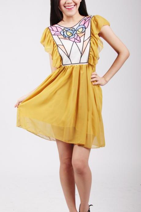 Abigail Vintage Chiffon Dress