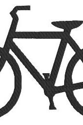 Bicycle Machine Embroidery Pattern