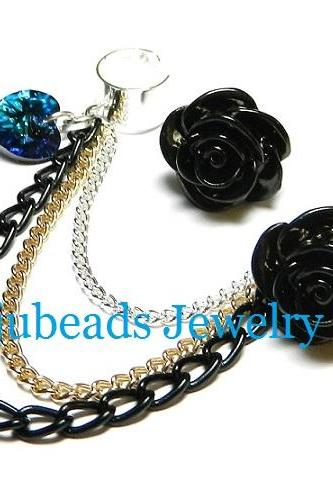 Posioned Love Ear Cuff Set
