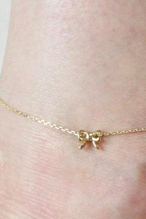 Tiny Ribbon Anklet