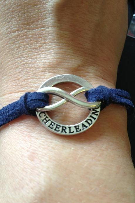 Cheerleading Forever Bracelet....custom colored strap