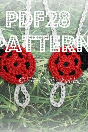 Ladybug barefoot sandals - crochet pattern for babies and toddlers - PDF28
