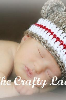 Plain and simple monkey hat crochet pattern - 6 sizes - for boys and girls - PDF1