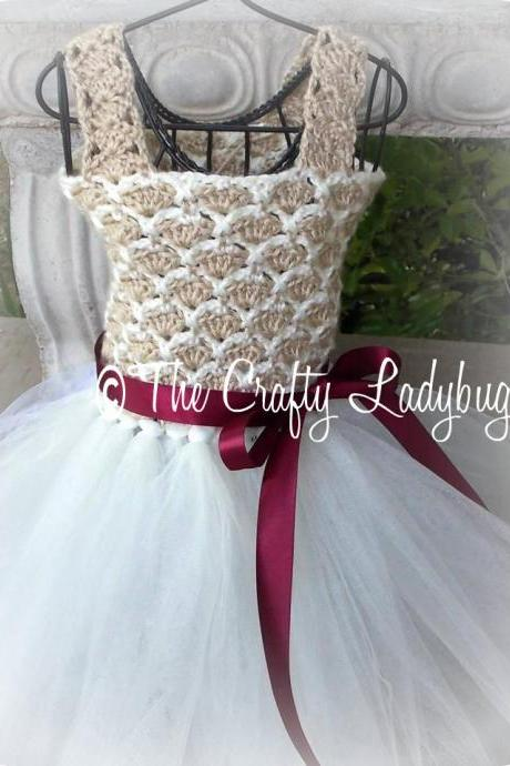 Crochet and tulle tutu dress pattern III - PDF52