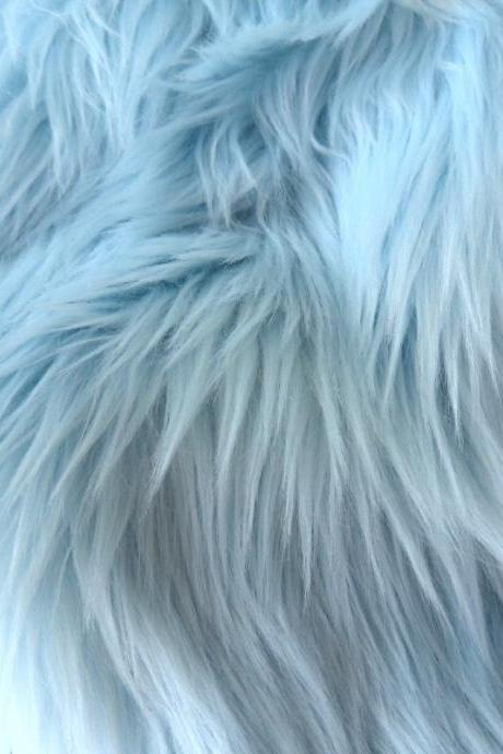 Fake Fur Light Blue - baby blue fake fur 9 x 18 inches