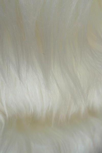 Ivory Faux Fur - creamy off white fake fur 14 x 19 inches