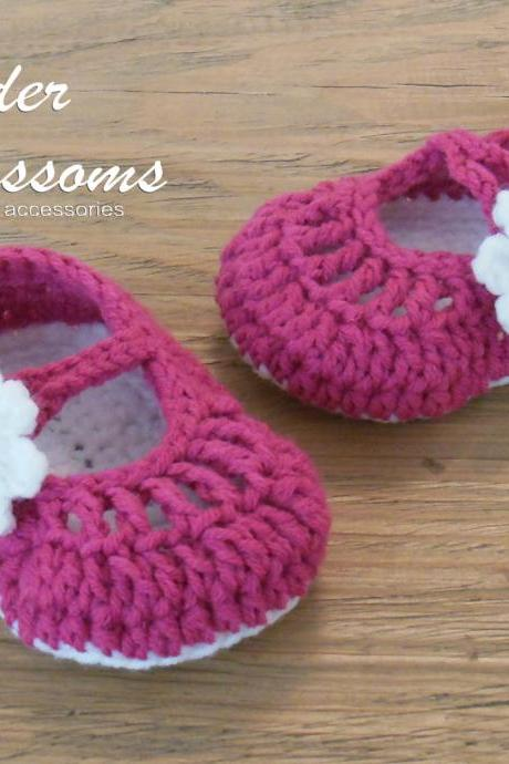 Mary Jane Shoes Crochet Newborn Shoes baby shoes